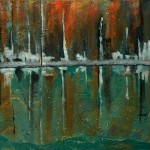 """River Wall Refections; 24""""x48"""" Methodist Administration Offices in the Landmark One Building"""